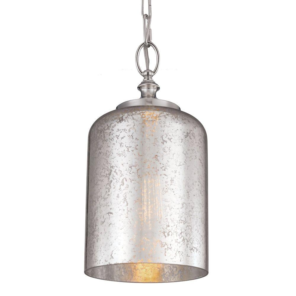 Feiss Hounslow 1-Light Polished Nickel Mini Pendant