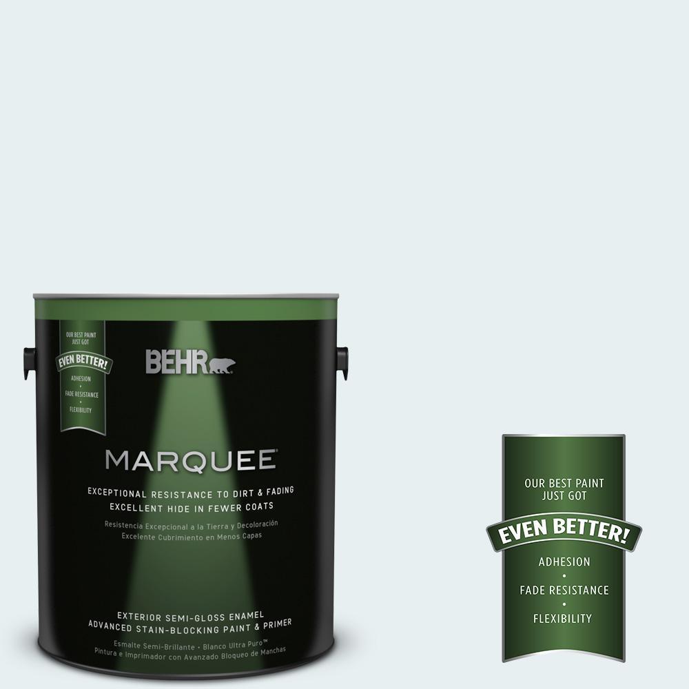BEHR MARQUEE 1-gal. #730E-1 Polar White Semi-Gloss Enamel Exterior Paint