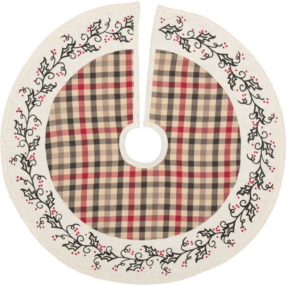 21 in. Hollis Ivory White Farmhouse Christmas Decor Tree Skirt