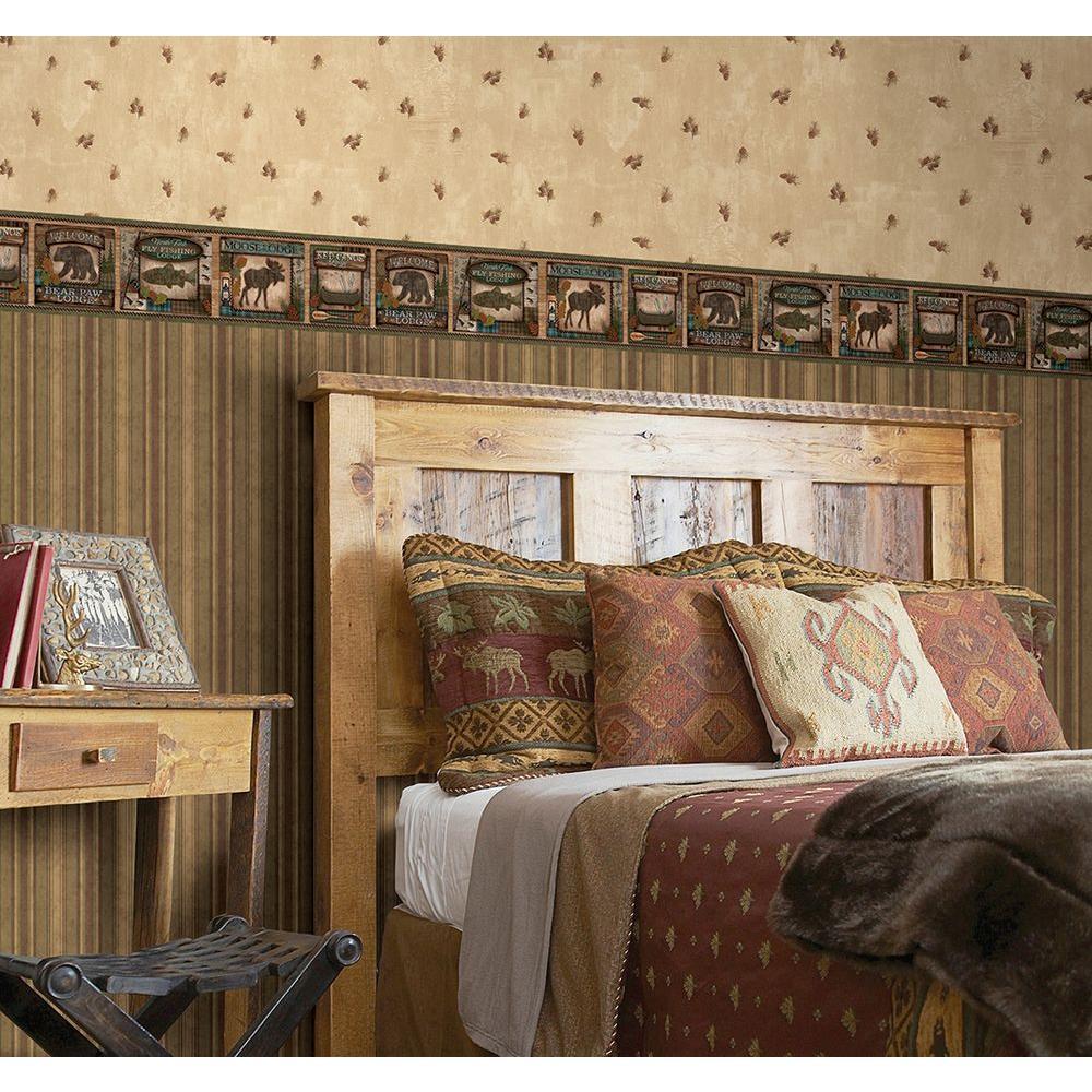 Chesapeake Tugalo Bear Paw Lodge Wallpaper Border