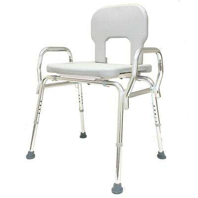 Bariatric Shower Chair - (Base Length: 27.5 in. to 28.25 in.) 500 lb. Weight Capacity - Heavy Duty Bath Seat
