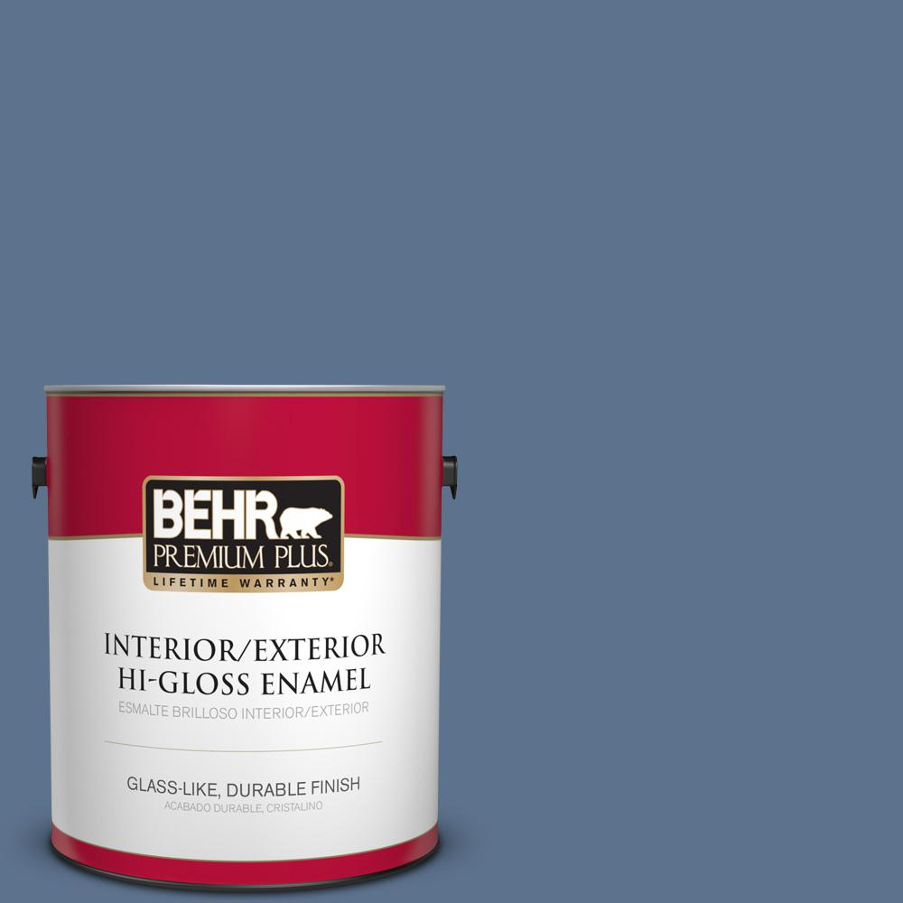 1 gal. #PPU14-01 Arrowhead Lake Hi-Gloss Enamel Interior/Exterior Paint