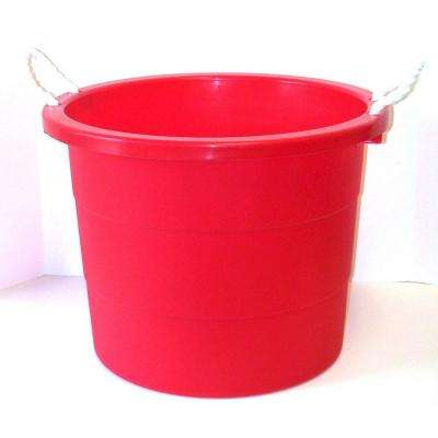 10 Gal. Rope Handle Tub in Cherry Red