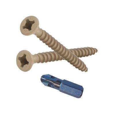 #8 1-5/8 in. Phillips-Square Flat-Head Wood Deck Screws (25 lb.-Pack)
