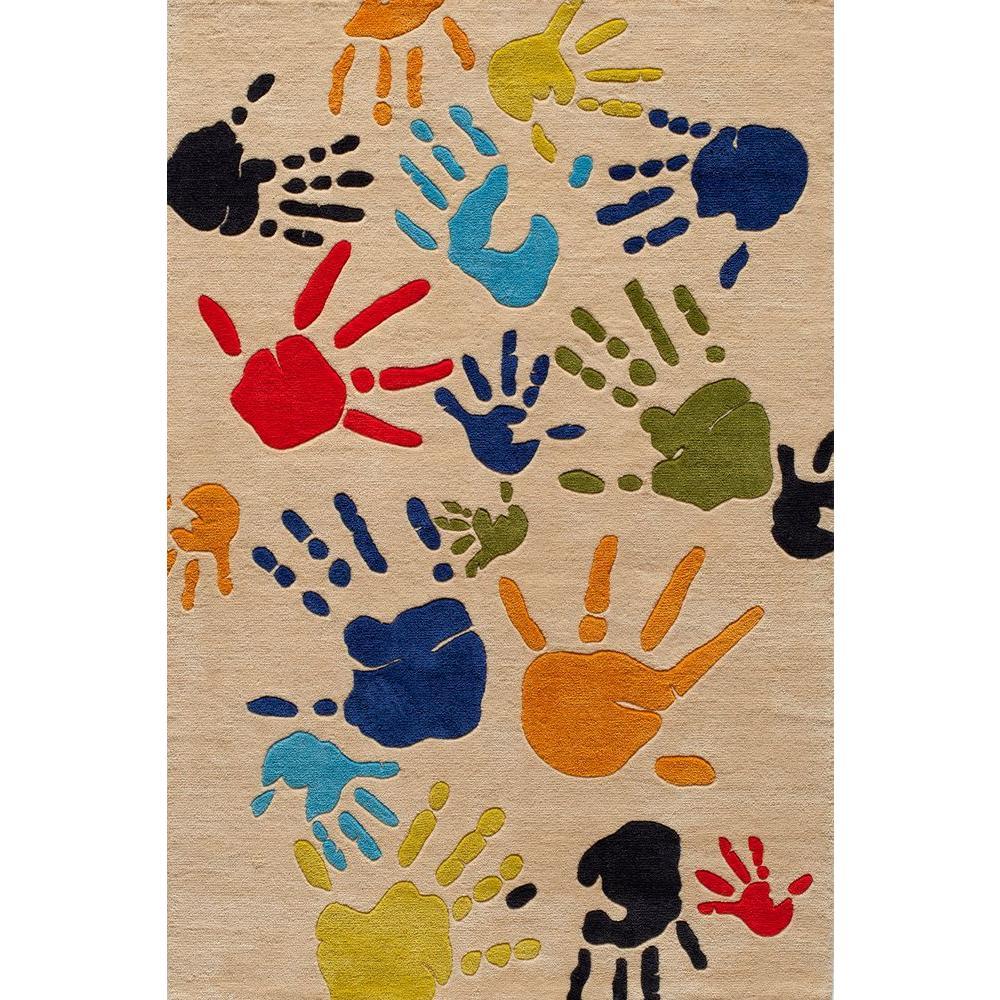 Caprice Palm Prints Ivory 2 ft. x 3 ft. Indoor Area