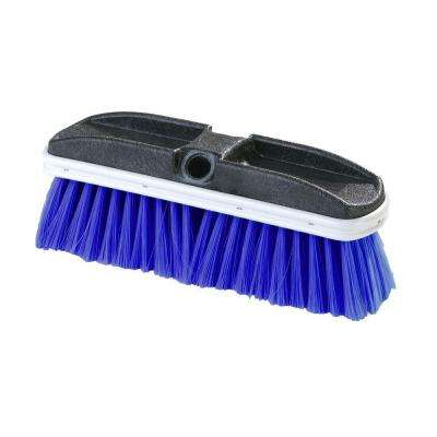 10 in. Flo-Thru Flagged Blue Nylex Truck Wash Brush (Case of 12)