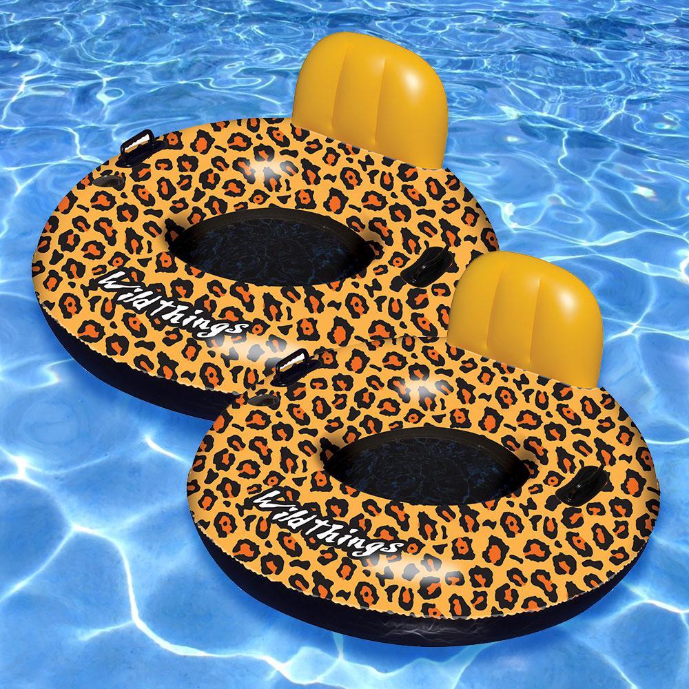 Cheetah Swimming Pool Tube (2 Pack)