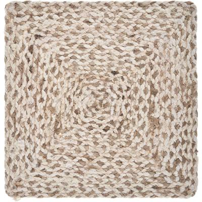 Woven 15 in. x 15 in. Bleach / Natural Square Jute Placemat (Set of 4)