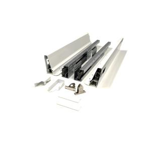 12 in. White Soft Close Full Extension Double Wall Lower Drawer Set (1-Pair)