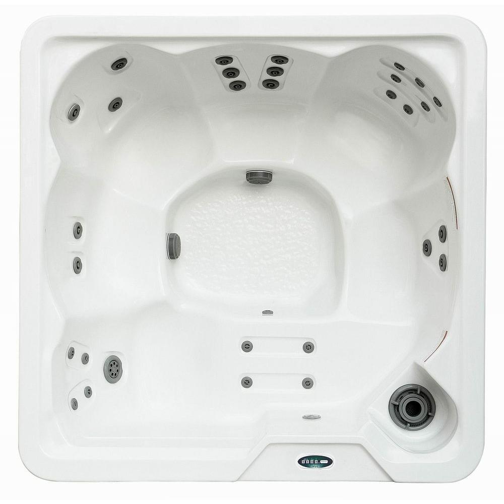 Aston 6 Person 30 Jet Hot Tub Spa With Lounger In Snow White