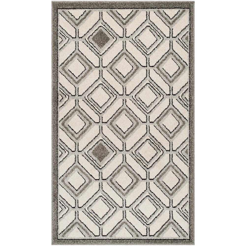 Amherst Ivory/Light Gray 3 ft. x 5 ft. Indoor/Outdoor Area Rug