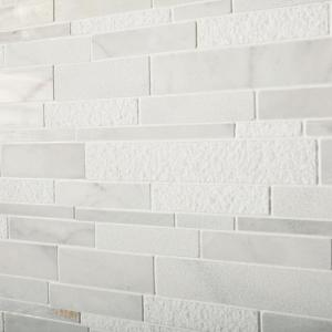 Stone Decor Glacier 12 in. x 14 in. x 10 mm Marble Linear Mosaic Floor and Wall Tile (1 sq. ft./ piece)