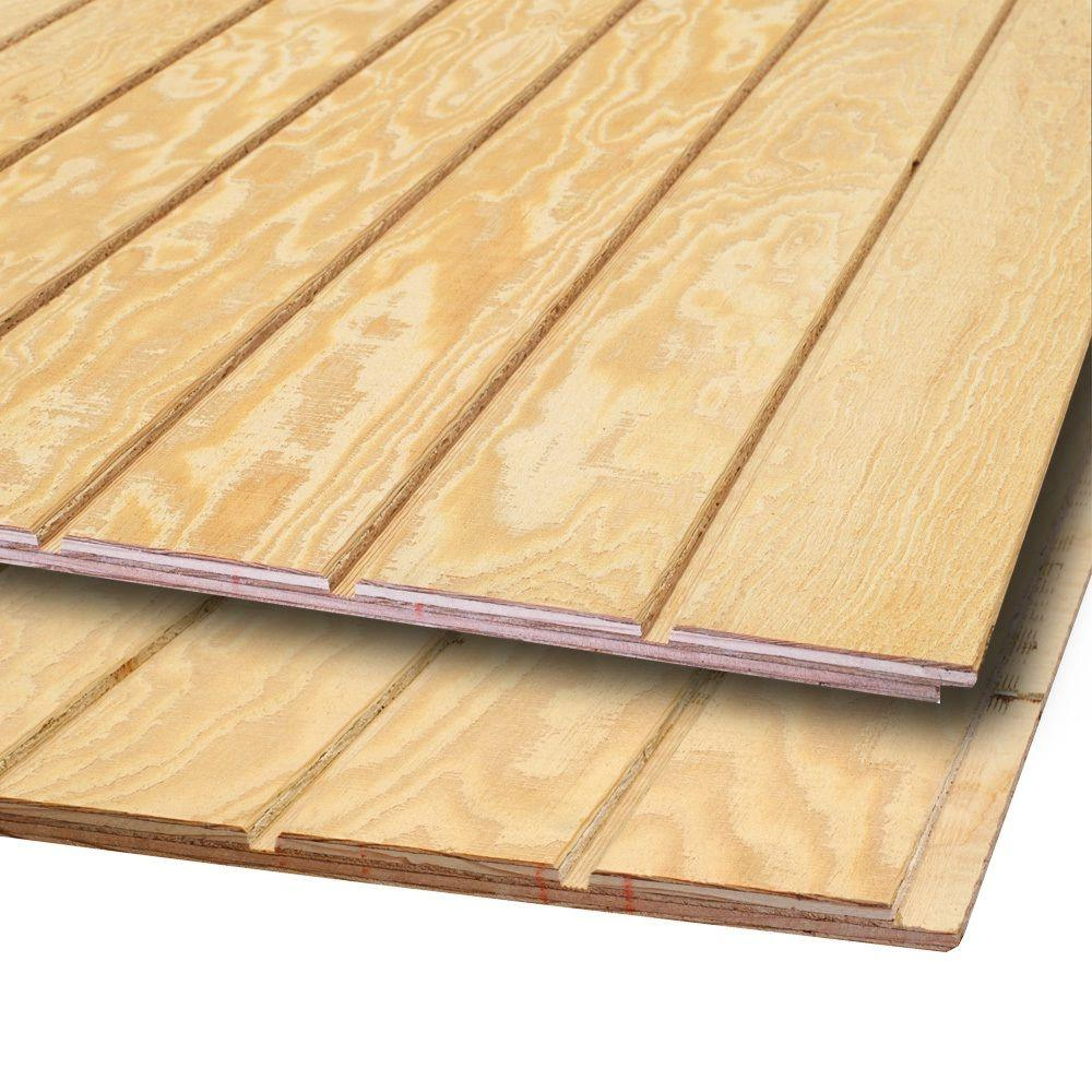 15 32 in x 4 ft x 8 ft plywood siding panel 399067 for Type of siding board