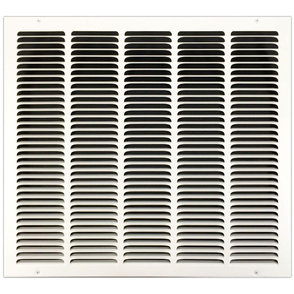 SPEEDI-GRILLE 20 in  x 18 in  Return Air Vent Grille with Fixed Blades,  White
