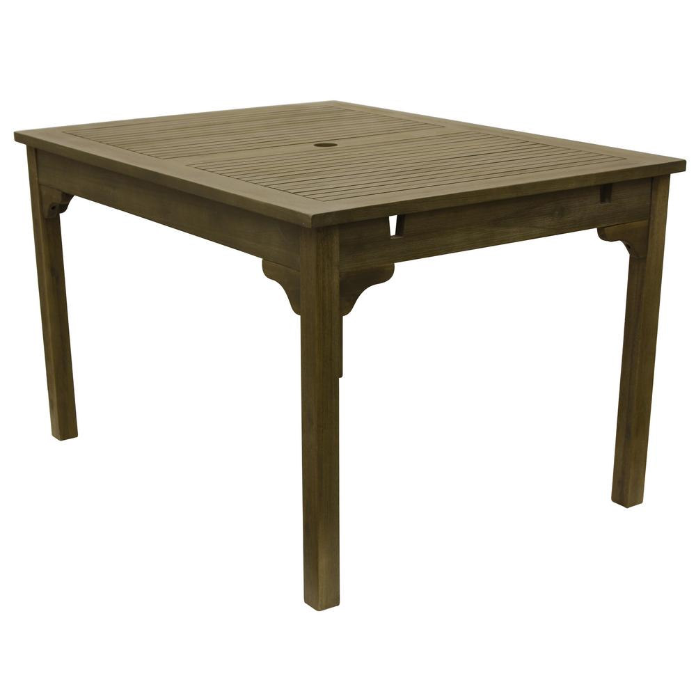 Well Fern Green Wood Outdoor Dining Table