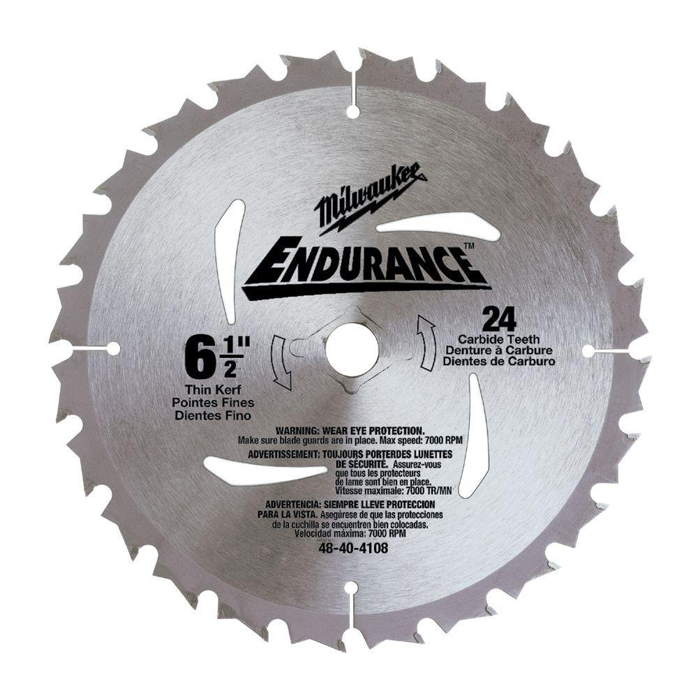 6-1/2 in. x 24 Carbide Tooth Circular Saw Blade