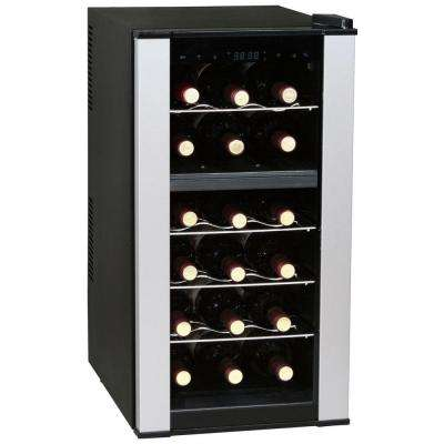 35 in. 18-Bottle Dual Zone Thermoelectric Wine Cooler