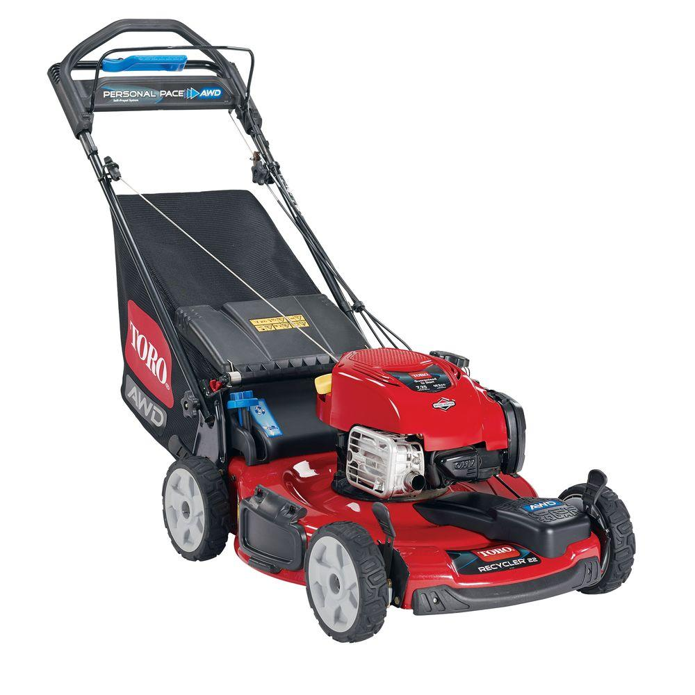 Toro Recycler 22 in. All-Wheel Drive Personal Pace Variable Speed Gas Self Propelled Mower with Briggs & Stratton Engine