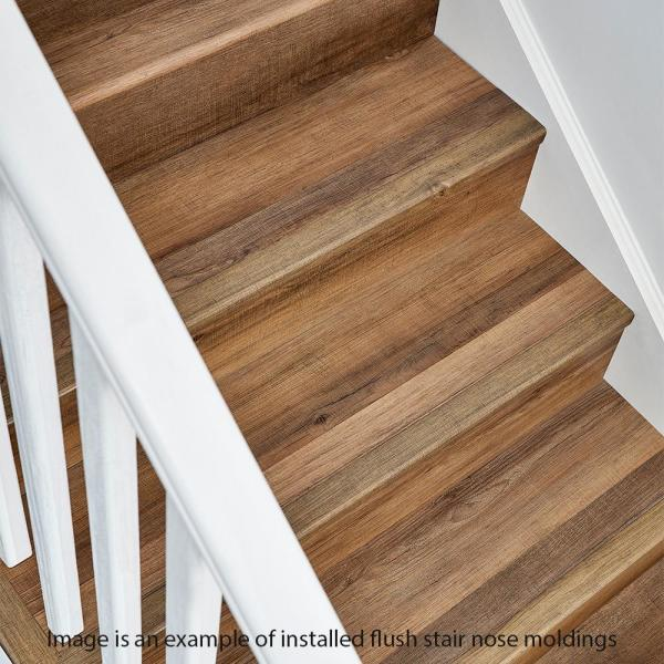 Home Decorators Collection Barrel Wood Light 7 Mm Thick X 2 In Wide X 94 In Length Coordinating Vinyl Stair Nose Molding Ve 60210 The Home Depot