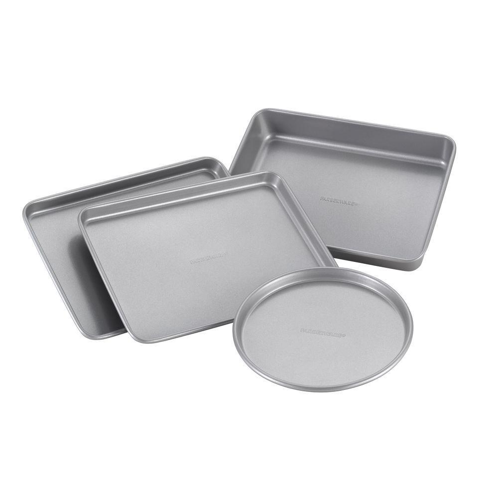 4-Piece Light Gray Bakeware Set