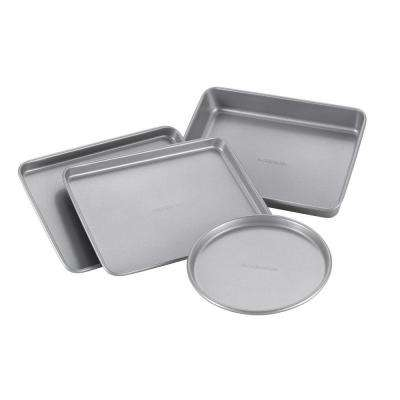 4-Piece Light Gray Bakeware Set