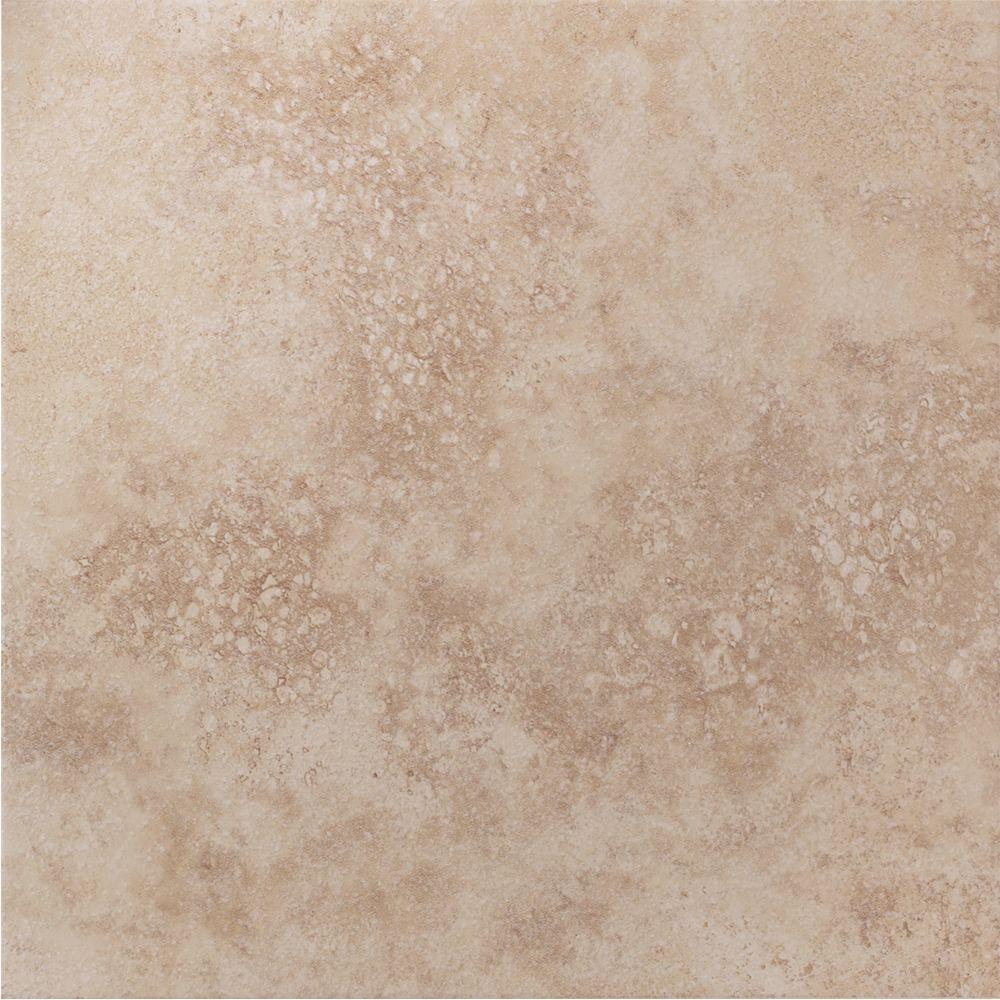 U.S. Ceramic Tile Florence Beige 13 in. x 13 in. Glazed Porcelain Floor Tile-DISCONTINUED