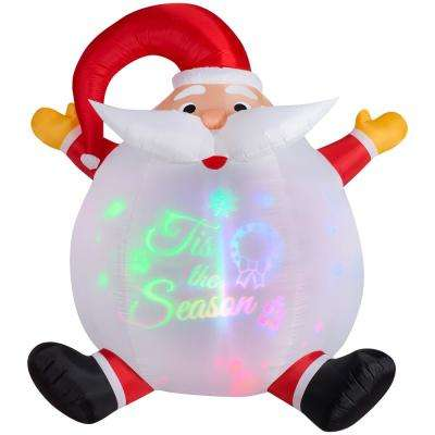 6 ft. Airblown Panoramic Projection Santa Christmas Inflatable
