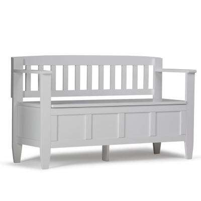 Brooklyn White Storage Bench