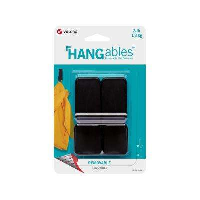 HANGables Medium Removable Hook in Black (2-Count)