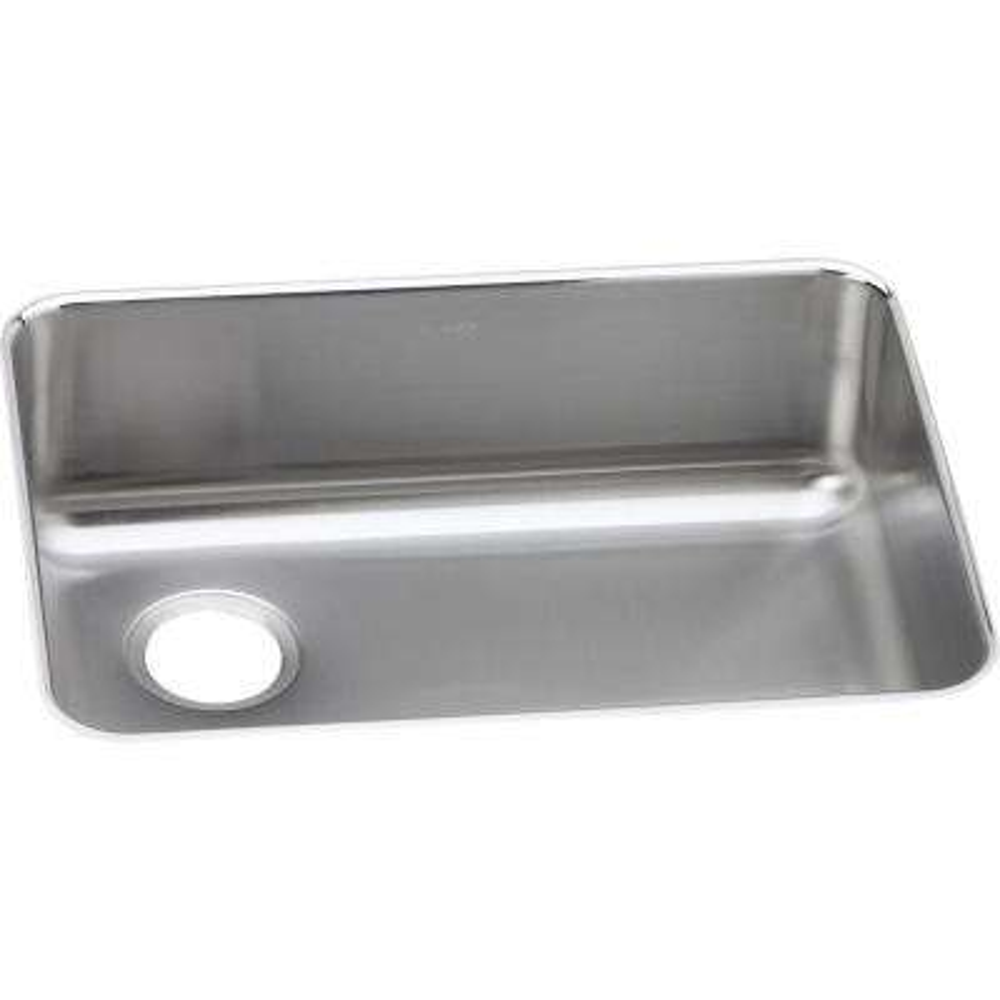 Lustertone Undermount Stainless Steel 26 in. Single Bowl Kitchen Sink