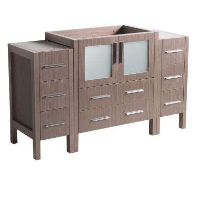 54 in. Torino Modern Bathroom Vanity Cabinet in Gray Oak