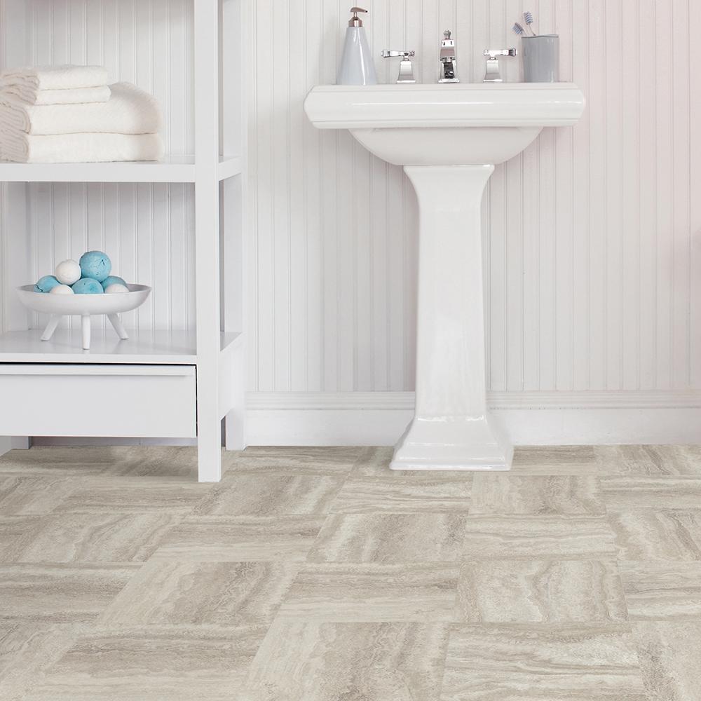 Floorpops Platinum Peel And Stick Floor Tiles 12 In X 12 In 20 Tiles 20 Sq Ft Case Tfp3327 The Home Depot
