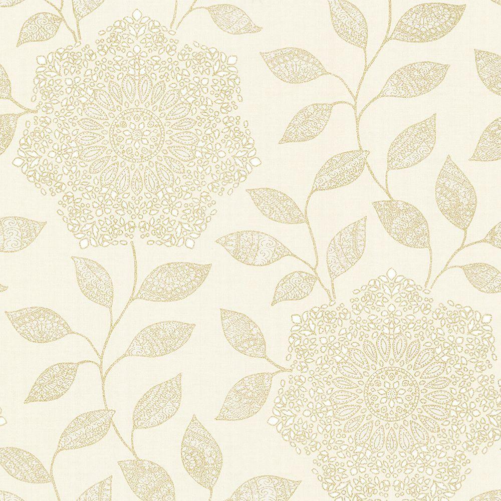 Kenneth James Shirazi Cream Bohemian Floral Wallpaper Sample 2618