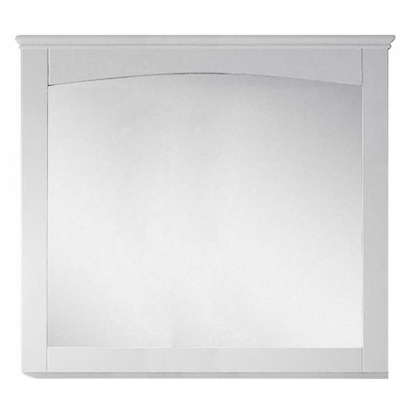 16-Gauge-Sinks 36 in. x 31.5 in.Single Framed Wall Mirror in Lacquer-Paint White