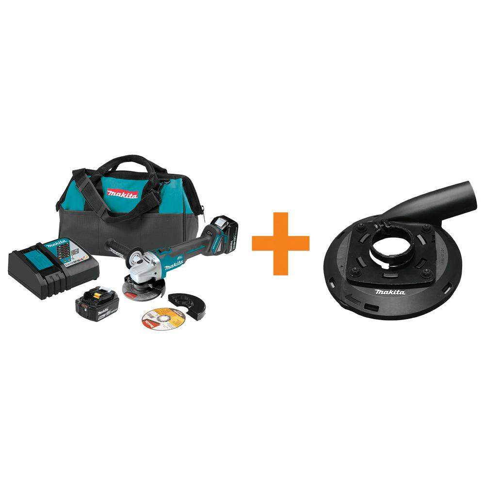 Makita 18V LXT Brushless Cordless 4-1/2 in./5 in. Cut-Off...