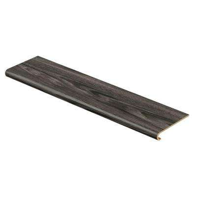 Aspen Oak Black/Noble Oak 94 in. Long x 12-1/8 in. Deep x 1-11/16 in. Height Vinyl to Cover Stairs 1 in. Thick
