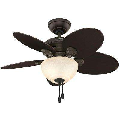 Carmen 34 in. Indoor New Bronze Ceiling Fan with Light