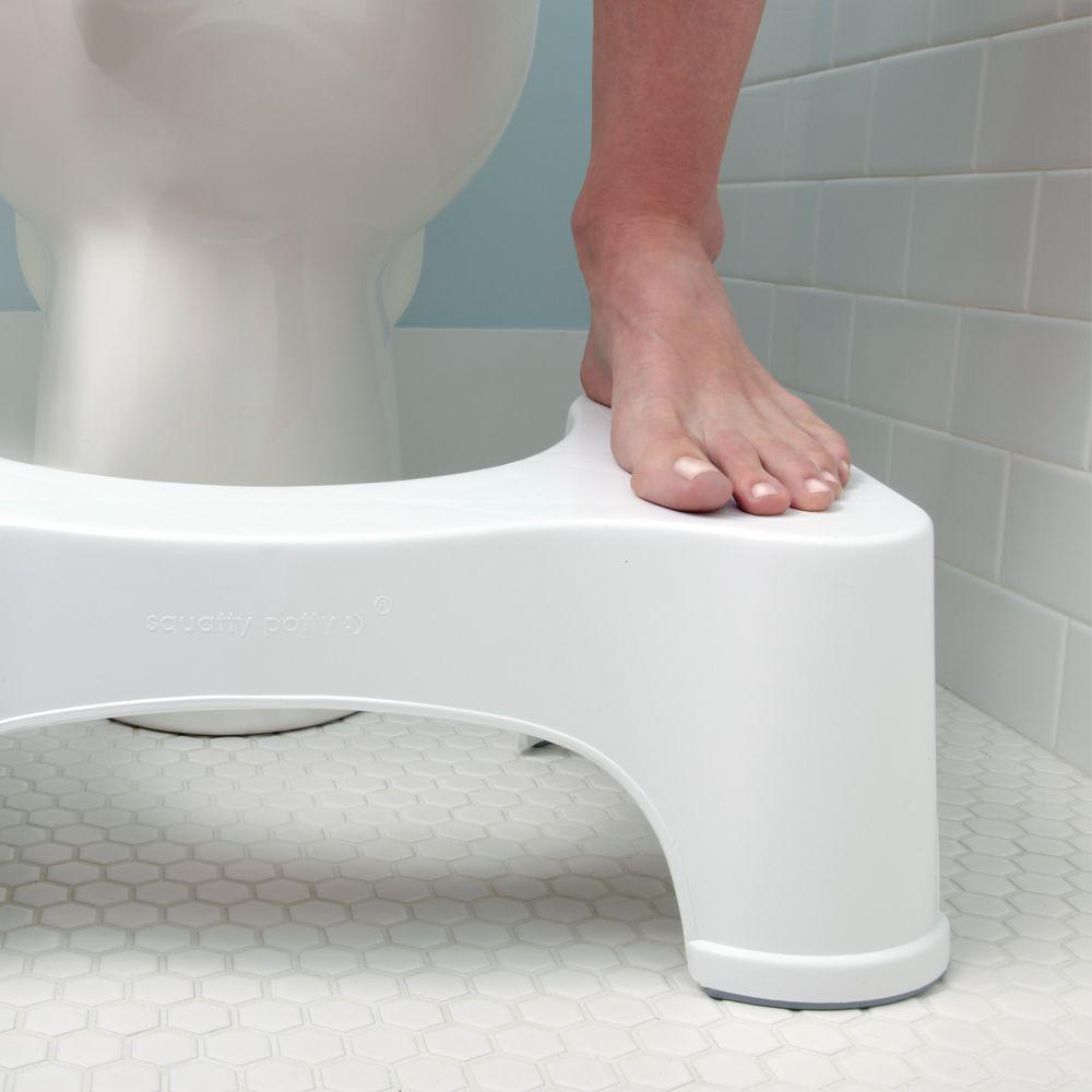 Squatty Potty 9 in. Ecco Plastic Toilet Stool in White