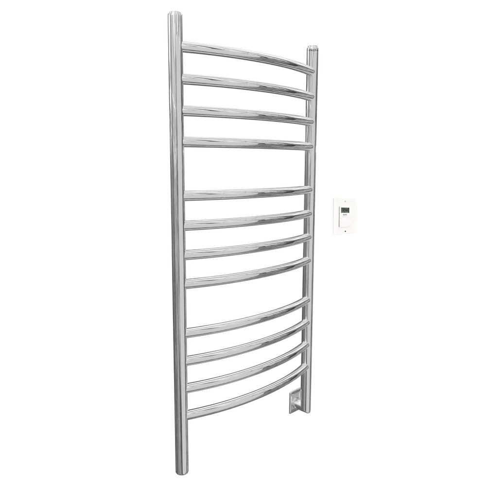 Svelte Rounded 40 in. Hardwired Electric Towel Warmer and Drying Rack
