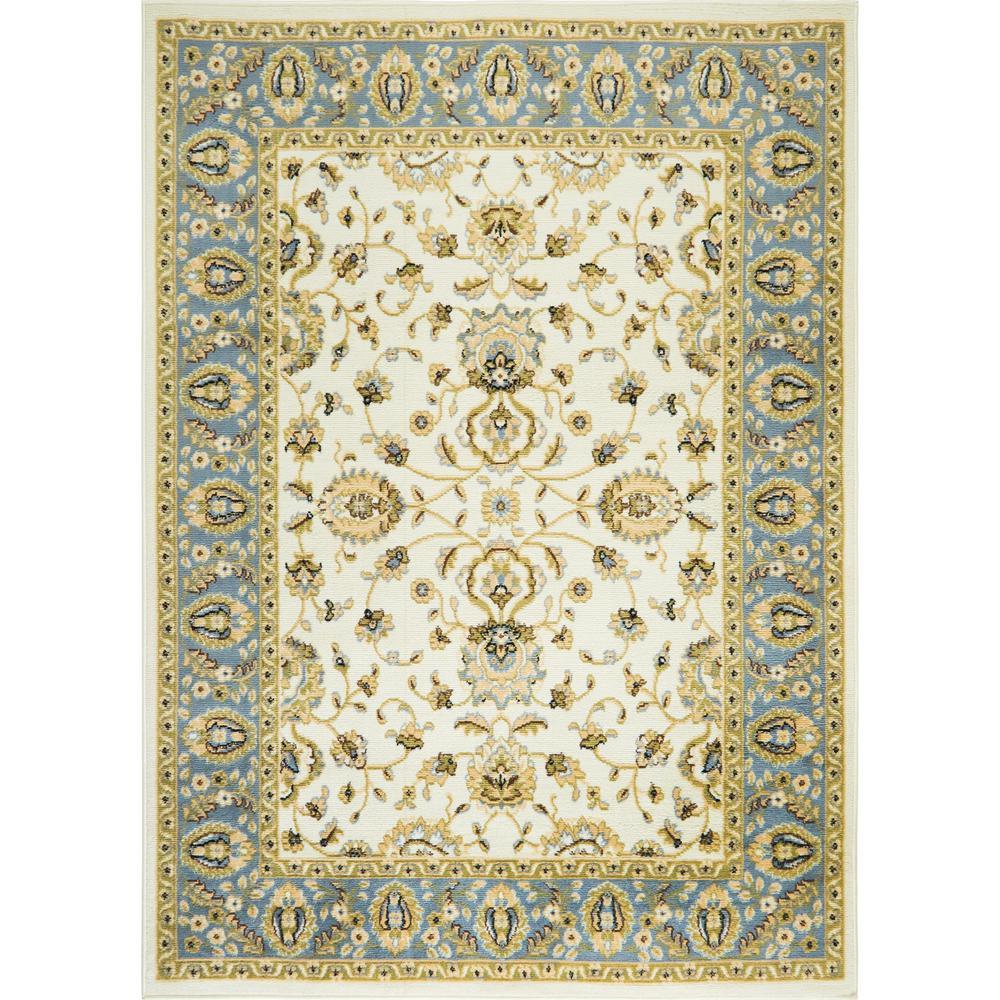 Optimum Ivory/Blue-Gray 8 ft. x 10 ft. Indoor Area Rug