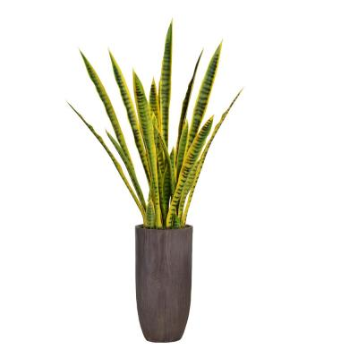 58.25 in. Tall Snake Plant (Sansevieria) Artificial Lifelike Faux in Resin Planter