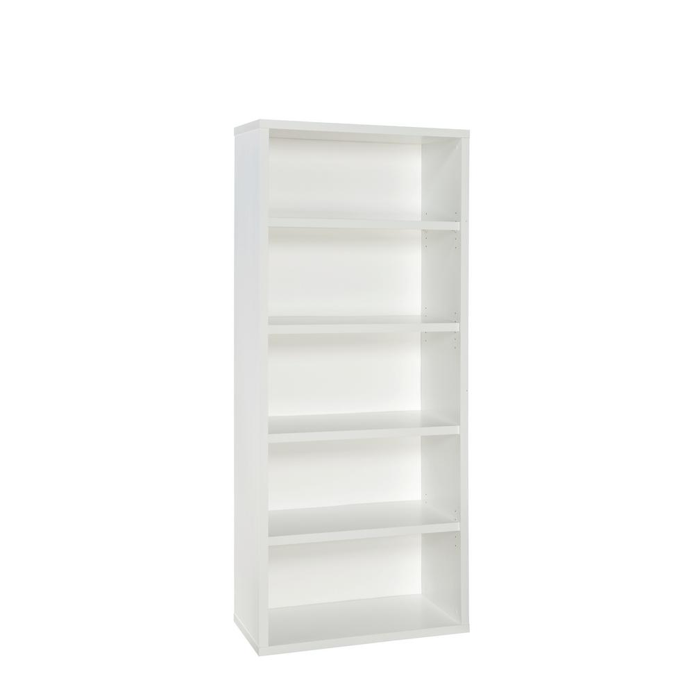ClosetMaid ClosetMaid 73 in. x 30 in. White Decorative 5-Shelf Unit