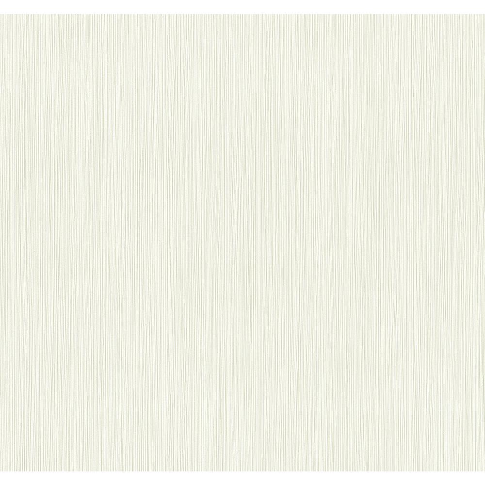 8 in. x 10 in. Ellington Cream Horizontal Striped Texture Wallpaper Sample