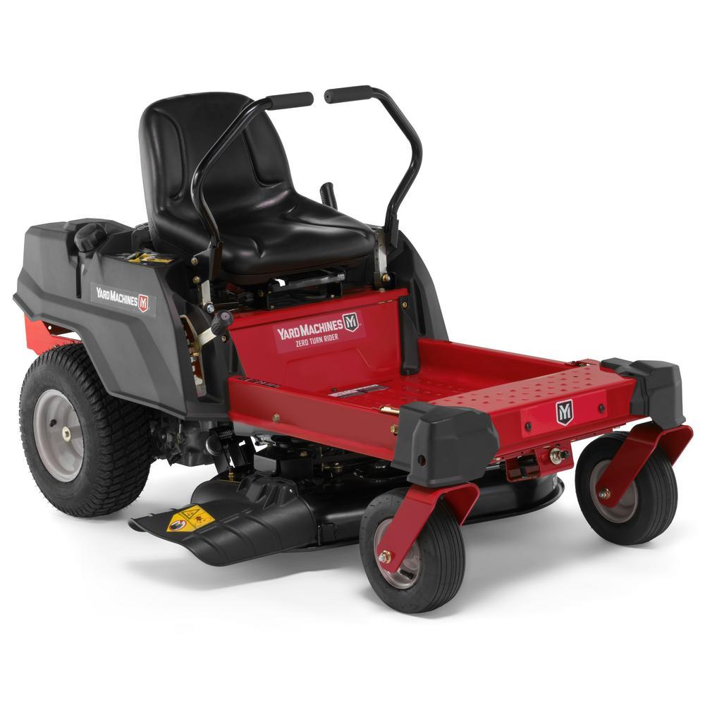 Zero Turn Mowers >> Yard Machines 34 In 452cc Single Cylinder Dual Hydrostatic Gas Zero