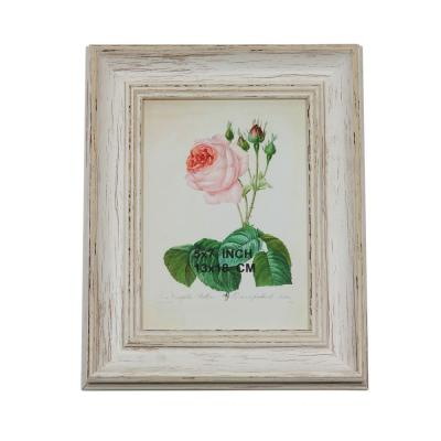9.75 in. Vintage Inspired 5 in. x 7 in. Distress White Photo Picture Frame