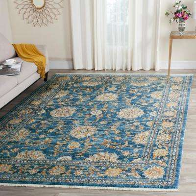 Vintage Persian Turquoise/Multi 5 ft. x 7 ft. 6 in. Area Rug