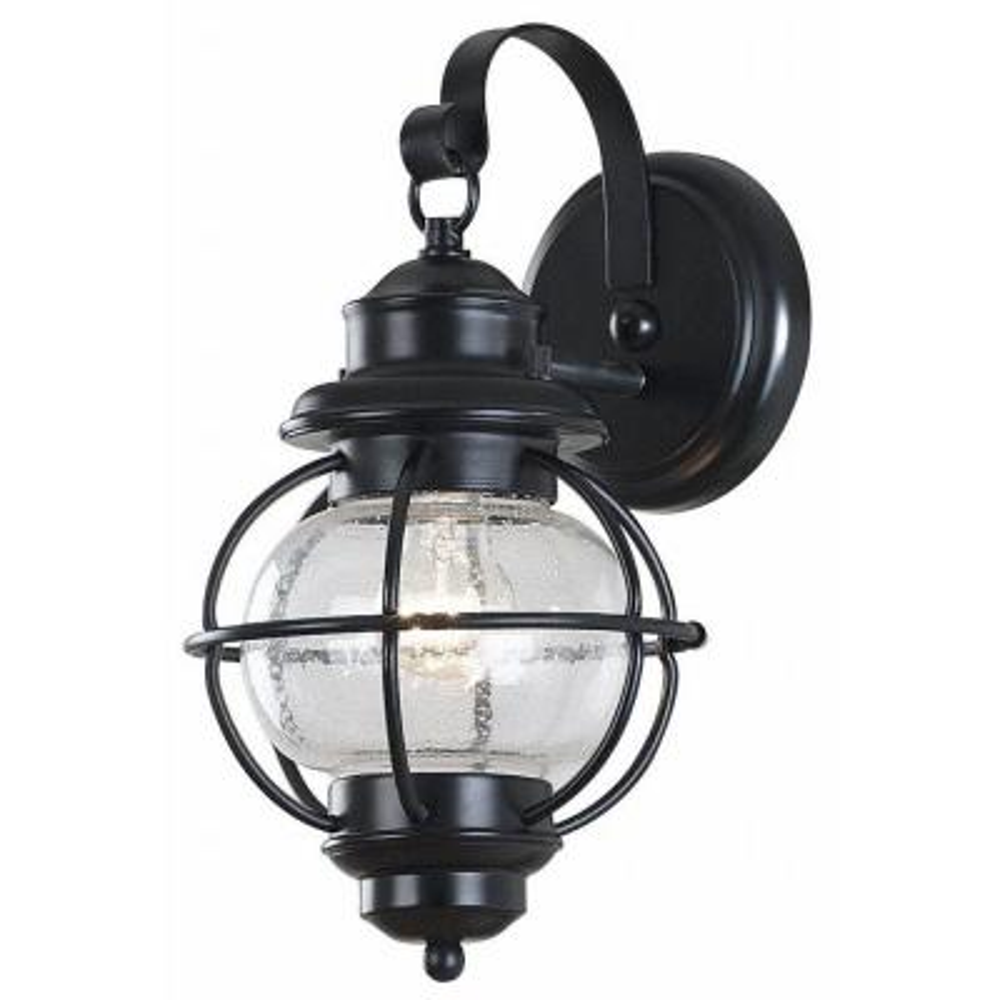 Hatteras 1-Light Black Wall Lantern Sconce