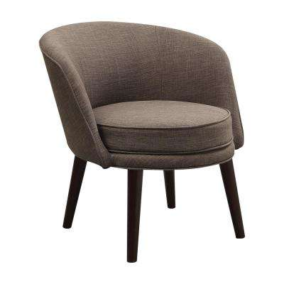 Amari Stone Gray Linen Accent Chair