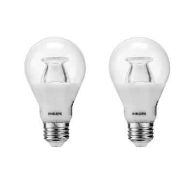 40-Watt Equivalent A19 Dimmable with Warm Glow Dimming Effect Energy Saving LED Light Bulb Soft White (2700K) (2-Pack)