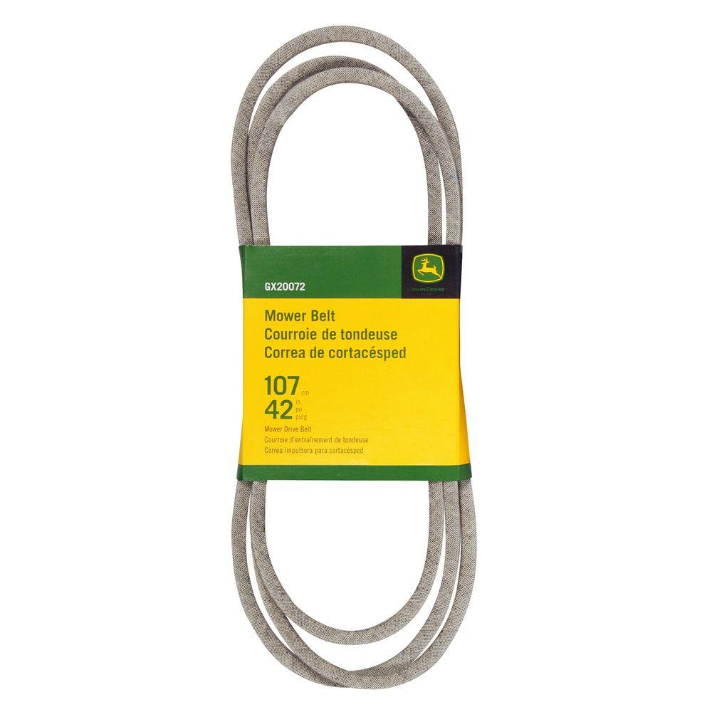 john deere belts gx20072 64_1000 john deere 42 in mower belt for select john deere mowers gx20072